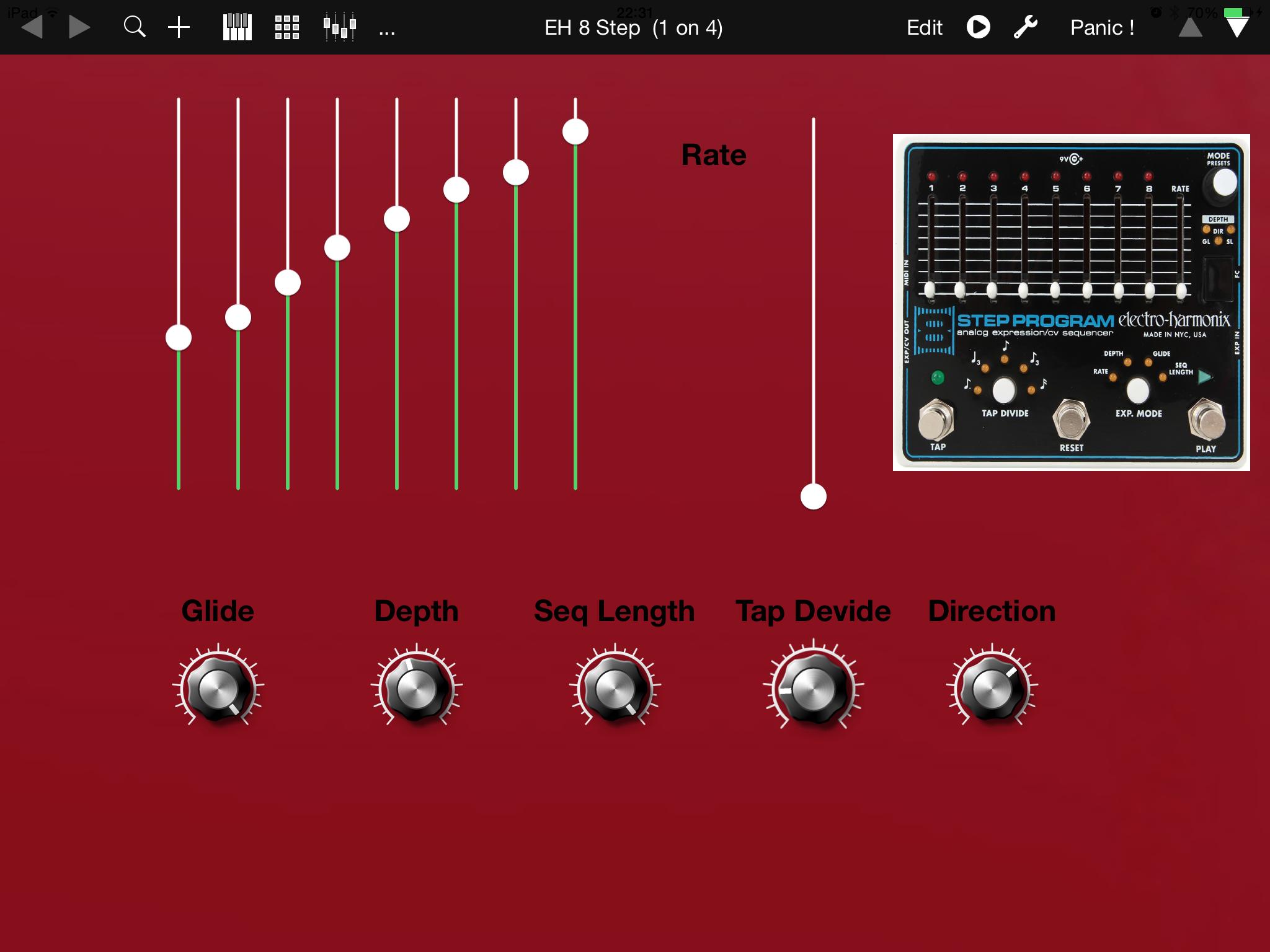 electro harmonix 8 step midi controller for ipad